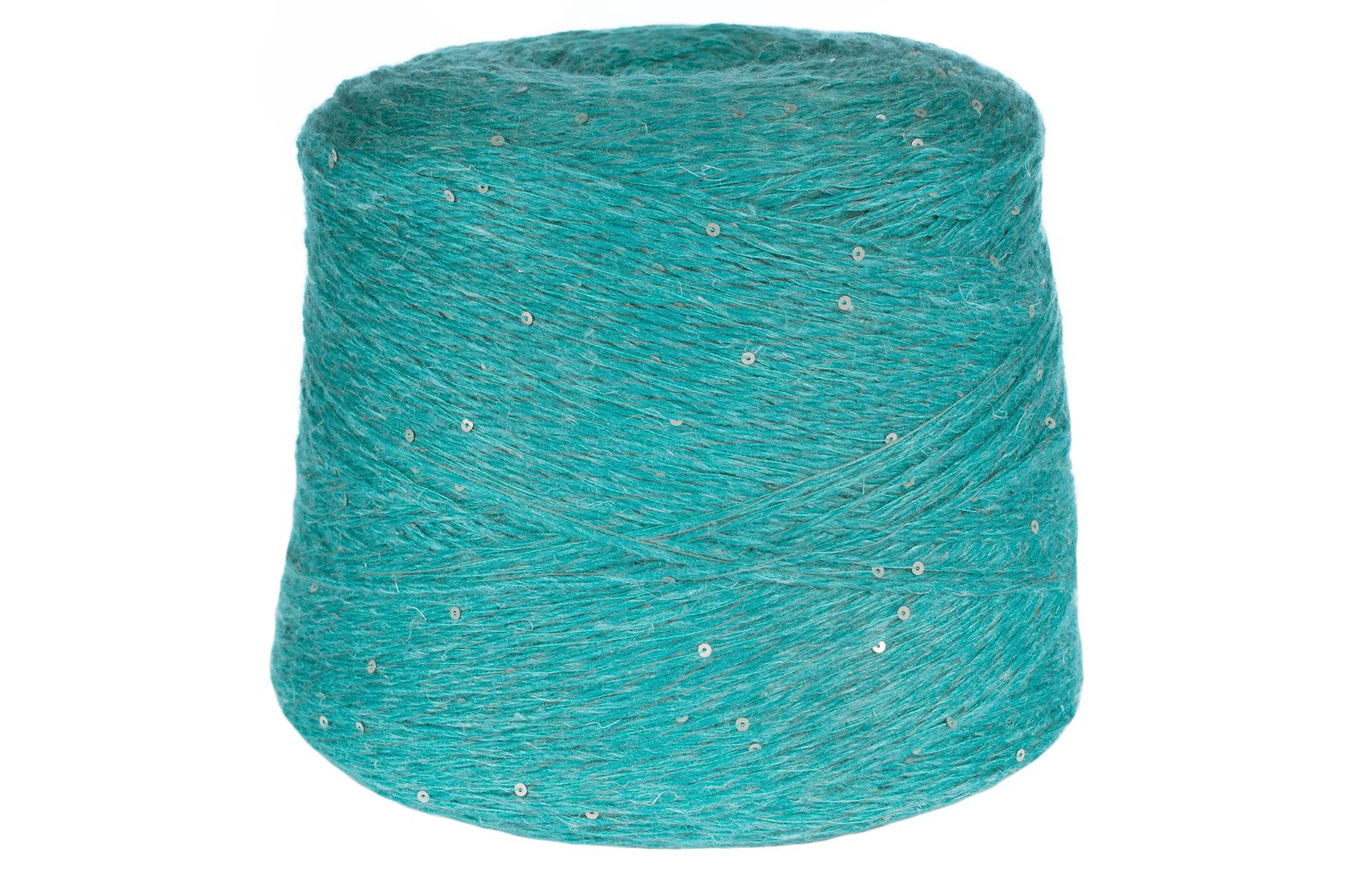 Silk Turquoise Yarn Silk and Merino Wool